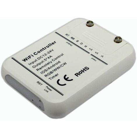 Controlador RGB/W/WW/CW WiFi compatible con Google Home/Alexa