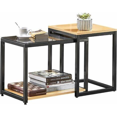 SoBuy Nesting Side Table,2 Pieces,FBT35-SCH