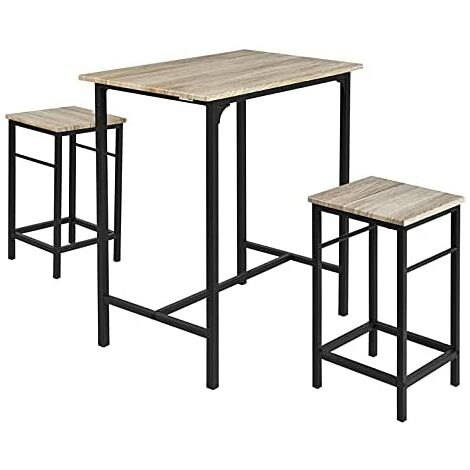 SoBuy Wood Kitchen Patio Dining Furniture,Table & Stools,OGT10-N