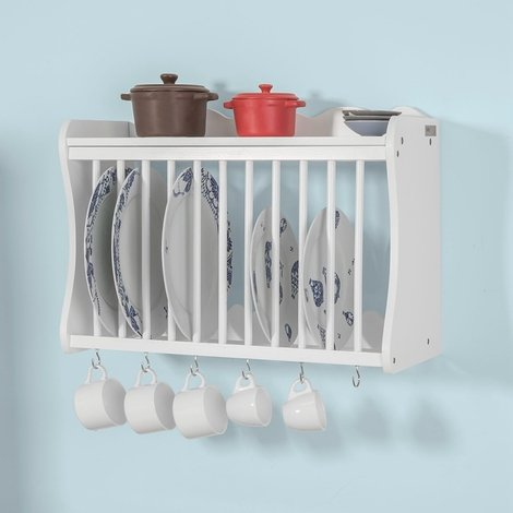 So Wall Mounted Kitchen Plate Cup, Plate Storage Rack