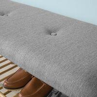 SoBuy Shoe Racks and tidies Hallway Seat Bench End Bench with Seat Cushion,FSR24-K-HG