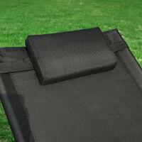 SoBuy Outdoor Garden Sun Lounger Relaxing Arm Chair Recliner Black OGS38-SCH