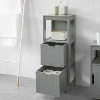SoBuy Floor Standing Bathroom Storage Cabinet Unit with 1 Shelf and 2 Drawers,FRG127-SG