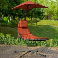 SoBuy Garden Patio Hammock Swing Hammock Swing Chair Sun Lounger Relaxing Chair, OGS39-ZG