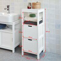 SoBuy Bathroom Furniture Set,Storage Cabinet Set,FRG126-W+FRG127-W
