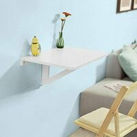 SoBuy Folding Wood Wall Kitchen Dining Table 60x40cm,White,FWT03-W