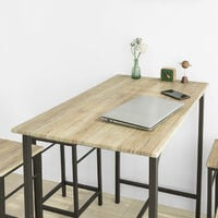 SoBuy Wood Kitchen Patio Dining Furniture,Table & Stools,OGT11-N