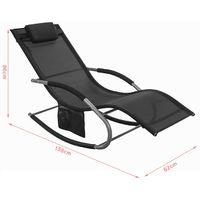 SoBuy 2 Sets Outdoor Patio Recliners Rocking Chair Black,OGS28-SCHx2