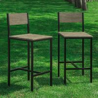 SoBuy Set of 2 High Back Kitchen Restaurant Breakfast Dining Chairs,FST53x2