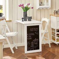 SoBuy Kitchen Restaurant Wall-mounted Folding Table Desk with Blackboard,FWT20-W