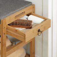 SoBuy Shoe Racks and Tidies Padded Hallway Shoe Storage Rack Bench with Storage Space,FSR47-N