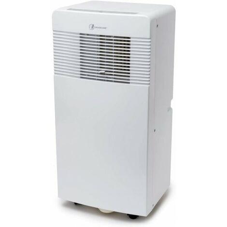 Haverland IGLU-9   Aire acondicionado móvil de bajo consumo 3 en 1   9000BTU   2600W   Refrigeración Ventilación Deshumidificación   Silencioso   Control remoto   Temporizador   Kit de ventana   Blanco