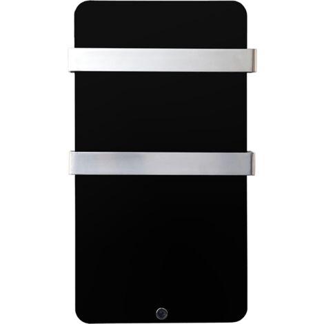 Haverland XTAL4N - Radiador secatoallas de cristal negro diseño ultrafino 400W