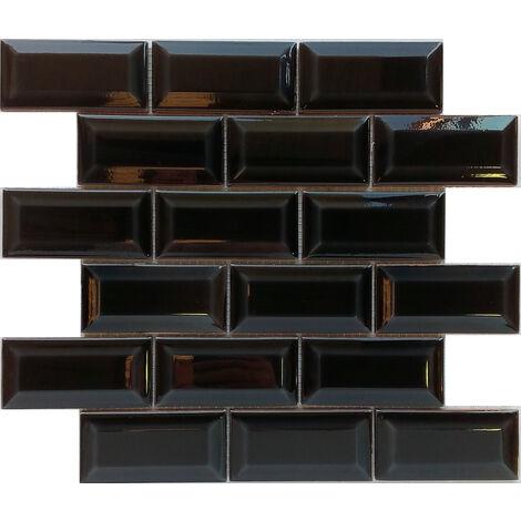 DISTRIMAT Carrelage mosaïque MINIMETRO Noir 30.5x30.5 cm