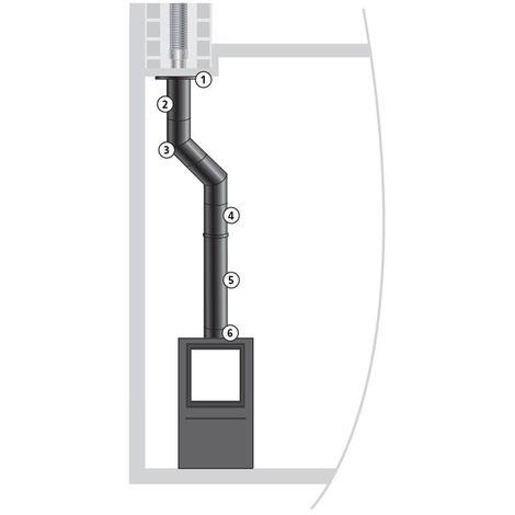 JONCOUX Kit raccordement buse dessus EMAIL 0,7 mm - Ø150 mm - Noir