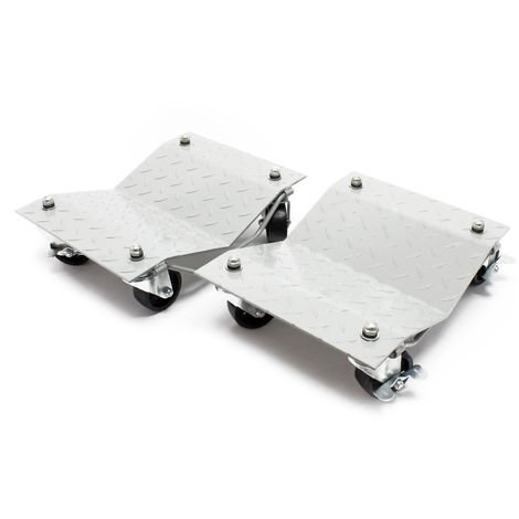 Rodillos maniobra Set 2 unidades Gato elevador cohe Ayuda maniobras Aparcar Taller Garaje 680 kg/ud