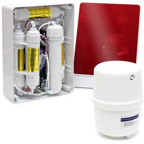 Naturewater Equipo de ósmosis inversa (RO) 5-Etapas 180l/día Bomba de refuerzo Filtración de agua