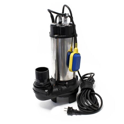 Bomba aguas sucias V2200DF con interruptor flotante 31200l/h 2200W, bomba drenaje aguas residuales