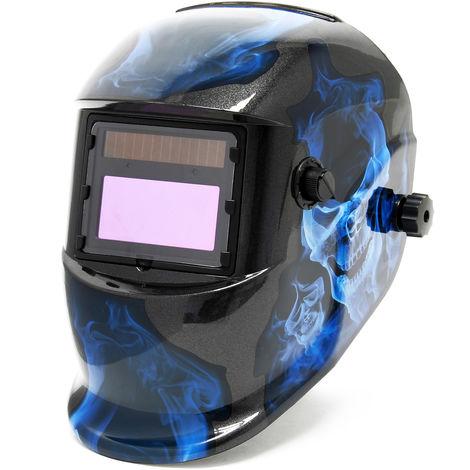 Careta de soldadura Blue Night, oscurecimiento completamente automático, gran campo de visión
