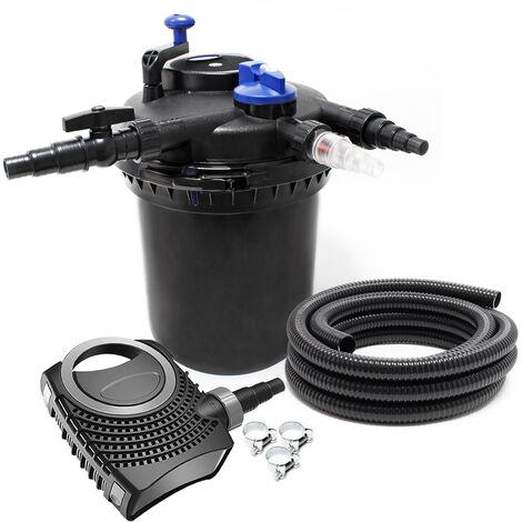 SunSun CPF-10000 SET 12000l 11W UVC NEO6000 Bomba Manguera Set de filtro para estanque
