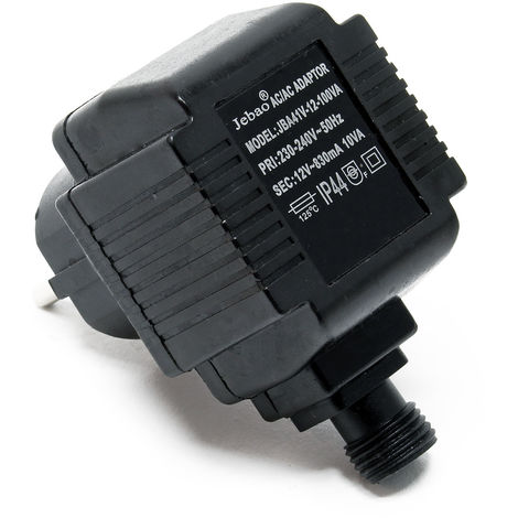 Jebao JBA41V-12-100VA Netzteil 2 polig IP44 12 Volt 830 mA 10 VA AC/AC Adapter