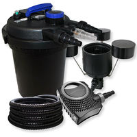 SunSun Kit Filtración estanque presión 6000L 11W UVC neo800025m manguera skimmer CSP-250 jardin