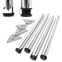 870 mm y 1100 mm con tornillos y placa de montaje 820 mm Juego de 4 barras ajustables para encimera Patas de mesa de cocina 710 mm