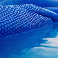 Cubierta solar piscina isotérmica Azul Rectangular 4x6m Lona térmica protectora Cobertor piscina
