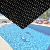Cubierta solar piscina isotérmica Negra Rectangular 5x8m Lona térmica protectora Cobertor piscina