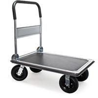 Carrito plataforma de transporte hasta 300kg con neumáticos, plegable, revestimiento antideslizante