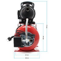 Equipo agua potable Sistema doméstico presión 1 kW 3500 l/h Bomba agua Jardín Presostato Manómetro