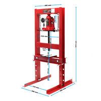 Prensa hidráulica de taller 6T con indicador de presión Prensar Doblar Estampar Trabajos en metal
