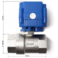 Válvula de bola para aguas residuales autocaravanas/caravanas 12V DC ∅25mm desbloqueo de emergencia