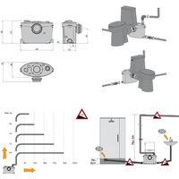 XPOtool 4/1 Triturador sanitario 400W Equipo elevador aguas residuales