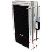 Rampa sillas ruedas 305cm 270kg plegable aluminio minusvalido coche acceso