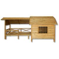 XXL Caseta perros perrera madera balcón terraza puerta laminada mascotas jardín extra grande