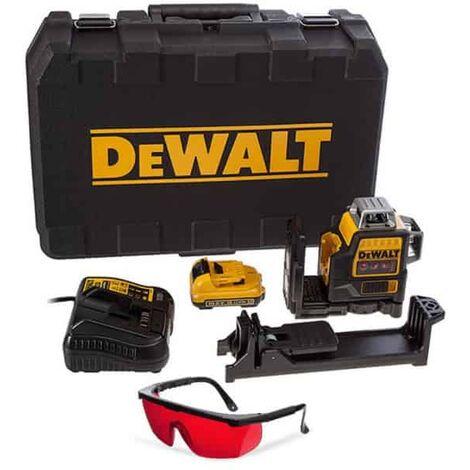 DEWALT Laser auto 3 plans multilignes rouge Li-ion 10.8V - DCE089D1R