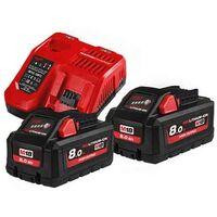 MILWAUKEE Pack HNRG 18V 2x8Ah HighOutput Red Li-ion M18 - 4933471073