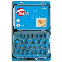 LEMAN Coffret 30 mèches de défonceuse assorties queue 8mm - 42870030