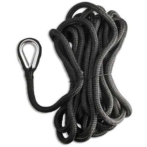 Cima di ormeggio nero impiombata redance inox 16 mm 11 mt nautica