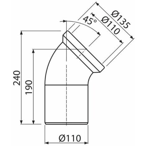 WC Anschluss Bogen Abflussrohr Toilette 45° 75° 90° Drehgelenk Exzenter Rosette