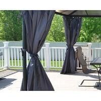 Palram Palermo / Milano 3000/3600 Grey Curtain Set - 2pk, 4pc