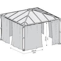 Palram Palermo 4300 Grey Curtain Set - 2pk, 4pc