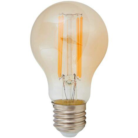 E27 bombilla LED filamento 6W, 500Lm, ámbar, 2200K