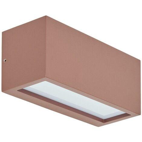 Aplique para exterioresBente, marrón óxido