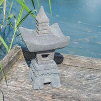 Linterna japonesa de piedra de lava 55 cm