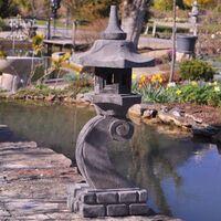 Linterna japonesa de piedra de lava 90 cm lámpara jardín terraza