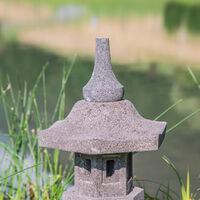 Lámpara japonesa toro jardín zen de piedra de lava 50 cm