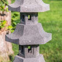 Linterna japonesa pagoda de piedra de lava 1,30 m