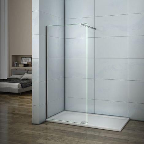 Mamparas de ducha Frontales Puerta fijo Cristal 6mm Antical Barra 73-120cm 65x185cm